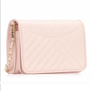 Tory Burch Alexa Combo Crossbody Bag in Shell Pink